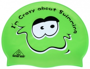 Water Gear Crazy About Swimming Silicone Swim Cap