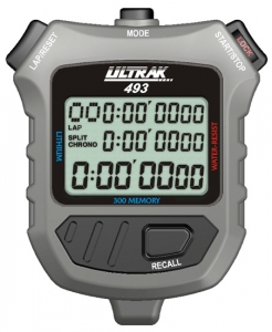 Ultrak 300 Memory 3 Line Display Stopwatch
