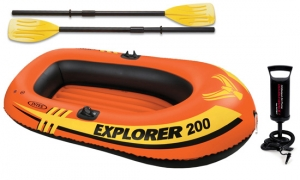 Wet Products Explorer 200 Inflatable Boat Set with Oars and Pump