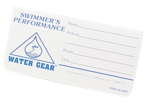 Water Gear Performance Log