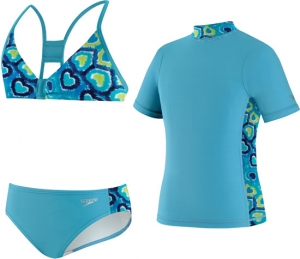 Speedo Love Burst 3pc Rashguard Set Girls