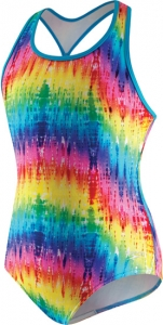 Speedo Rainbow Mist 1pc Keyhole Racer Back Girls