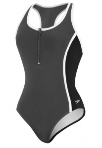 Speedo Color Blocked Zip Front 1pc Female