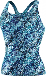 Speedo Bias Dots Ultraback Tankini Top Female
