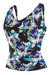 Speedo Watercolor Floral Comfort Strap Tankini Top Female