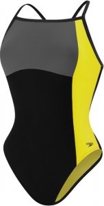 Speedo Color Block Thin Strap One Piece Suit Female