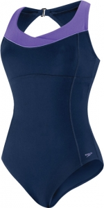 Speedo High Neck Piped One Piece Suit Female