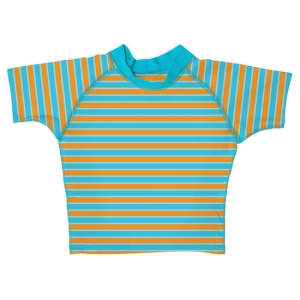i play Short Sleeve Stripe Rashguard