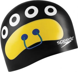 Speedo Critter Creeps 2 Silicone Junior Cap Black