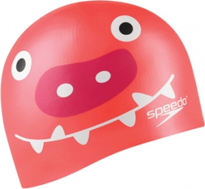 Speedo Critter Creeps 2 Silicone Junior Cap Pink