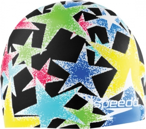 Speedo Black Star Silicone Swim Cap