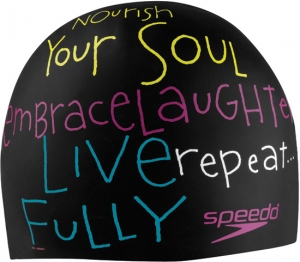 Speedo Morning Mantra Silicone Swim Cap