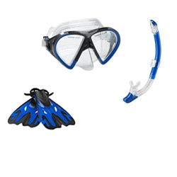 Speedo Hyperfluid Mask/Snorkel/Fins Set