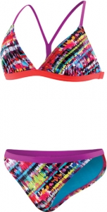 Speedo Flipturns Electro Stripe Mesh Back 2PC Female