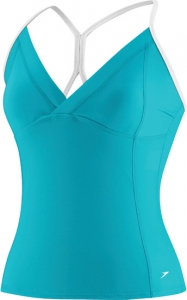 Speedo Mesh Panel Tankini Top Female