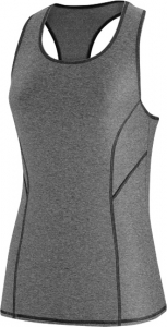 Speedo Heathered Tank Rashguard w/Zip Pocket Female