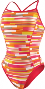 Speedo Bars and Blocks Reversible 1pc Female