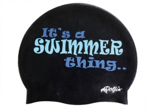 Dolfin Swimmer Thing Silicone Swim Cap
