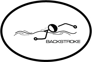 BaySix Backstroke Stick Figure Magnet