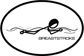 BaySix Breaststroke Stick Figure Magnet