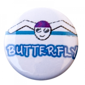 Butterfly Figure Button