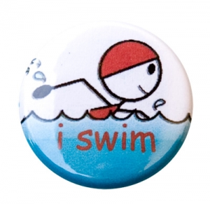 I Swim Figure Button