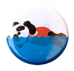 Swimming Panda Button