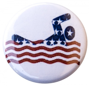 USA Swimmer Button