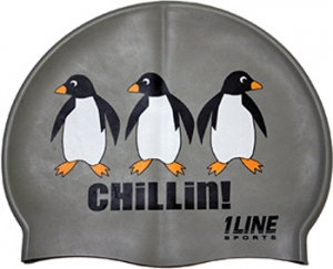1Line Sports Chillin Silicone Swim Cap