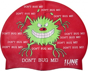 1Line Sports Don't Bug Me Silicone Swim Cap