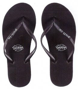 Pull-In Black Slaps Sandals Female Clearance