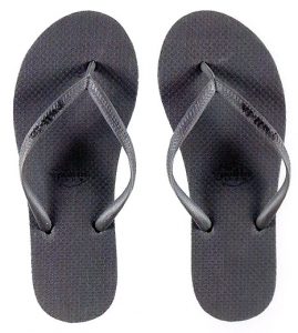 Pull-In Grey Slaps Sandals Female