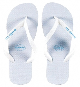 Pull-In White Slaps Sandals Male