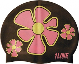 1Line Sports Flower Trio Silicone Swim Cap