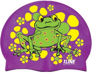 1Line Sports Frog Power Silicone Swim Cap