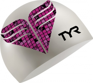 Tyr Pink Check Silicone Cap