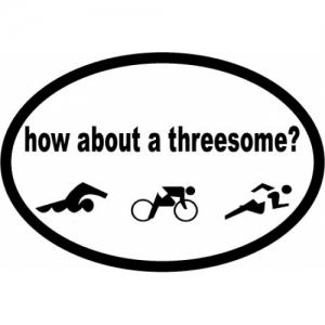 Bay Six How About A Threesome Oval Decal