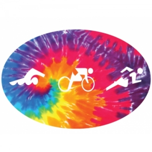 Bay Six Tri Figures Tie-Dye Oval Decal