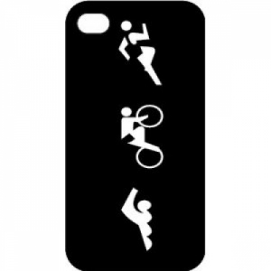 Bay Six Tri Figures iPhone Case
