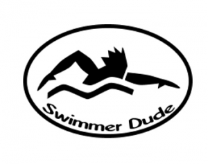 BaySix Swimmer Dude Car Magnet
