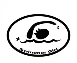 BaySix Swimmer Girl Car Magnet