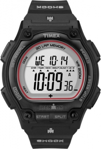 Timex Shock-Resistant Steel 30-Lap Watch