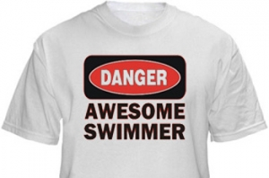 1Line Sports Awesome Swimmer T-Shirt Clearance