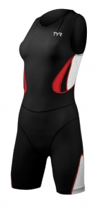 Tyr Carbon Zipperback Short John w/Pad Female