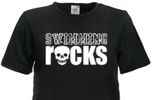 1Line Sports Swimming Rocks T-Shirt Clearance