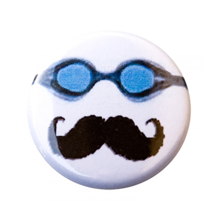 Goggles and Moustache Button product image