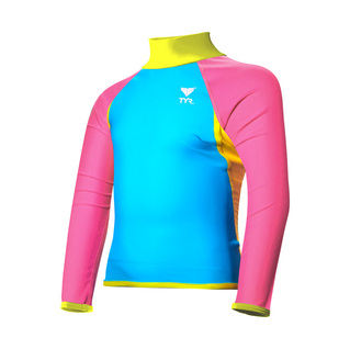 Tyr Girls Rash Guard SOLID LS