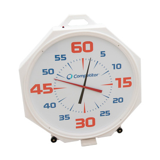 White Battery Swimming Pace Clock 37in