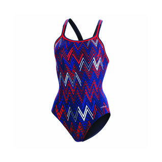 Dolfin Polylite Chevron DBX Back Swimsuit