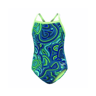 Dolfin Uglies Girl's One Piece Suit WAVES FOR DAYS